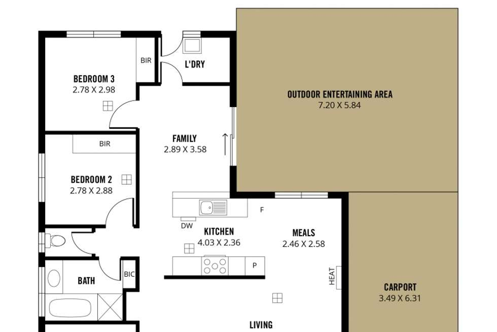 Floorplan of Homely house listing, 26 Kooyonga Way, Morphett Vale SA 5162