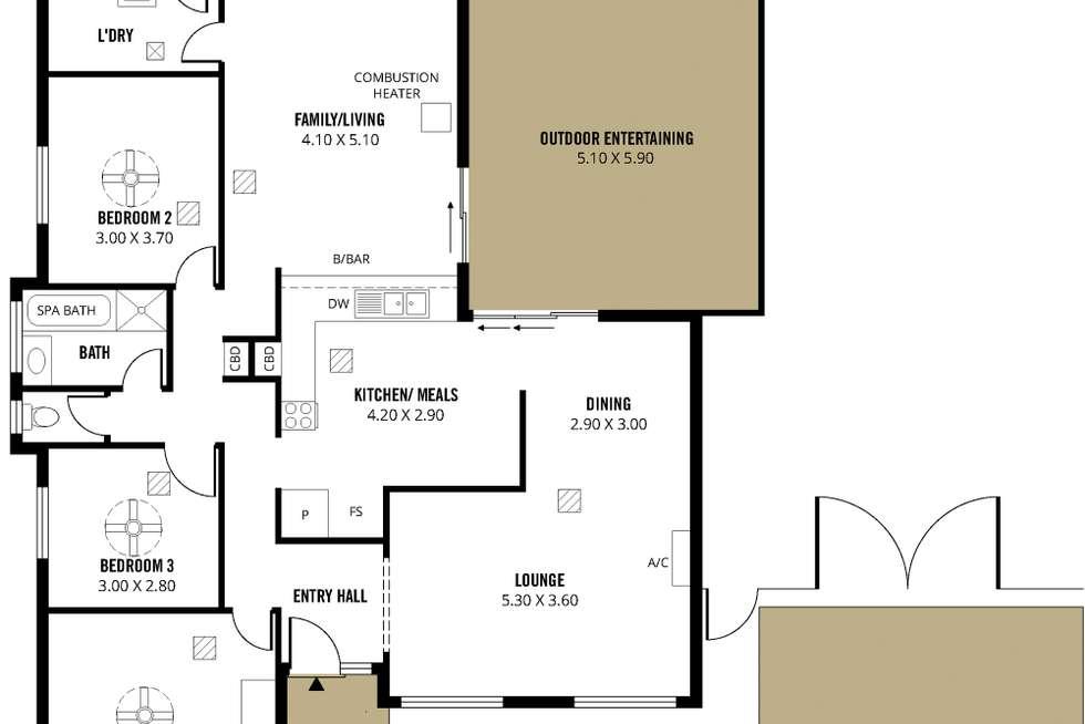 Floorplan of Homely house listing, 6 Virginia Drive, Morphett Vale SA 5162