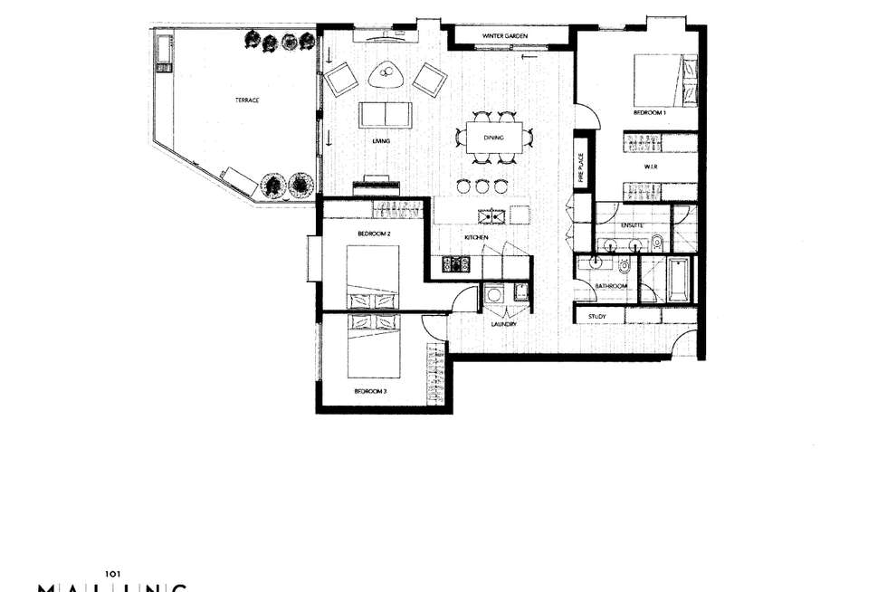 Floorplan of Homely apartment listing, 101/85 Maling Road, Canterbury VIC 3126