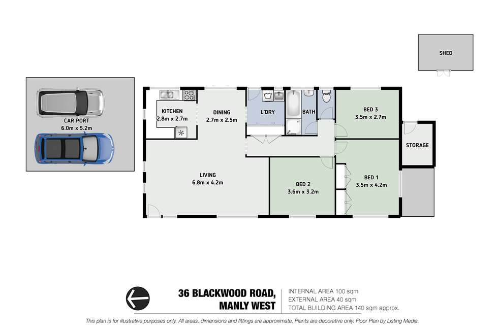Floorplan of Homely house listing, 36 Blackwood Road, Manly West QLD 4179