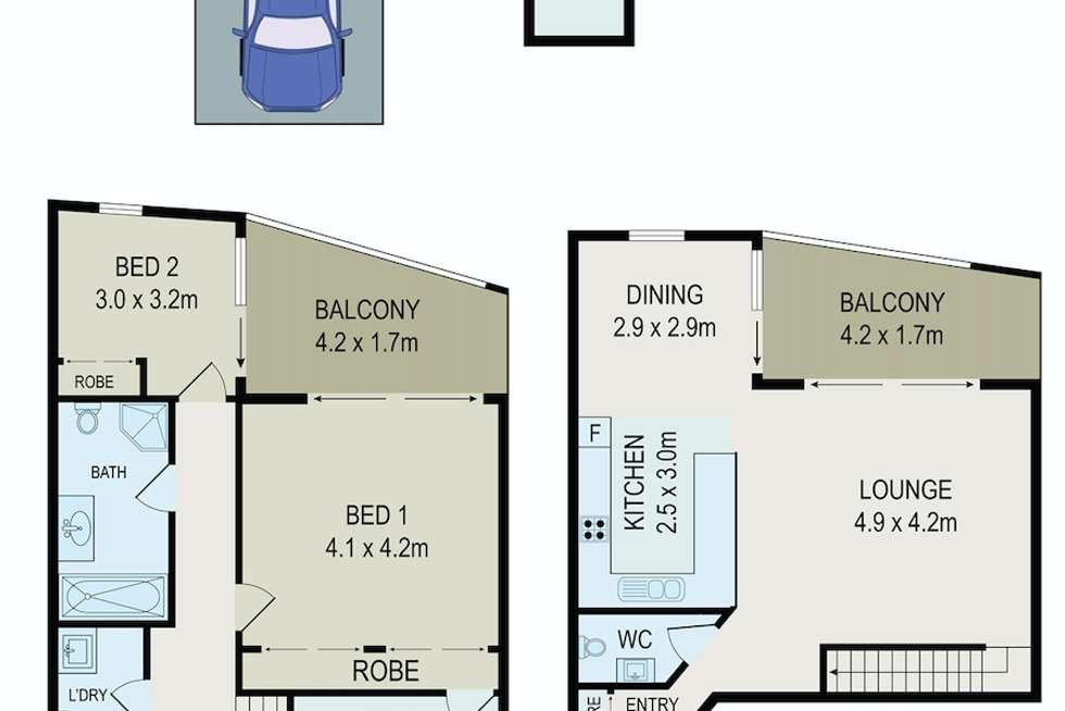 Floorplan of Homely apartment listing, 620/22 Charles Street, Parramatta NSW 2150