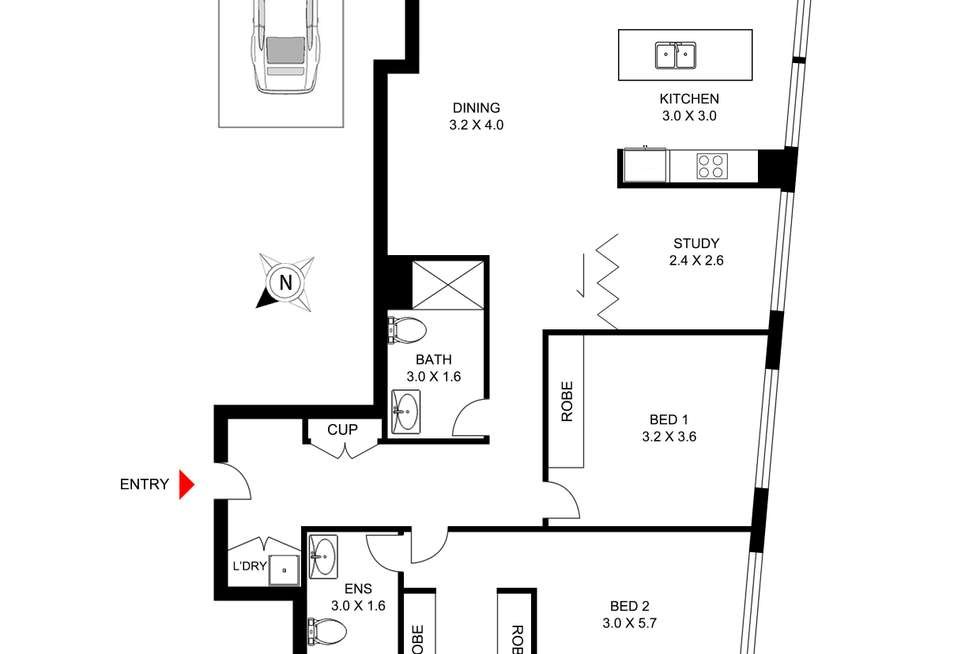 Floorplan of Homely apartment listing, 1609/438 Victoria Avenue, Chatswood NSW 2067