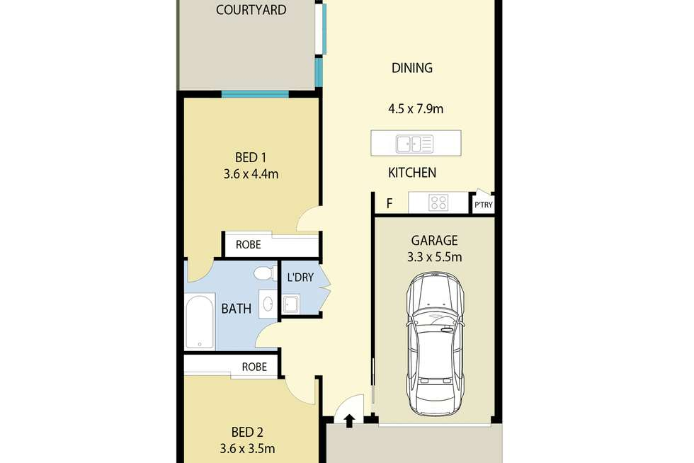 Floorplan of Homely villa listing, 18/49 Mawson Street, Shortland NSW 2307