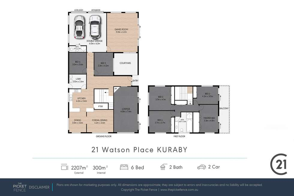 Floorplan of Homely house listing, 21 Watson Place, Kuraby QLD 4112