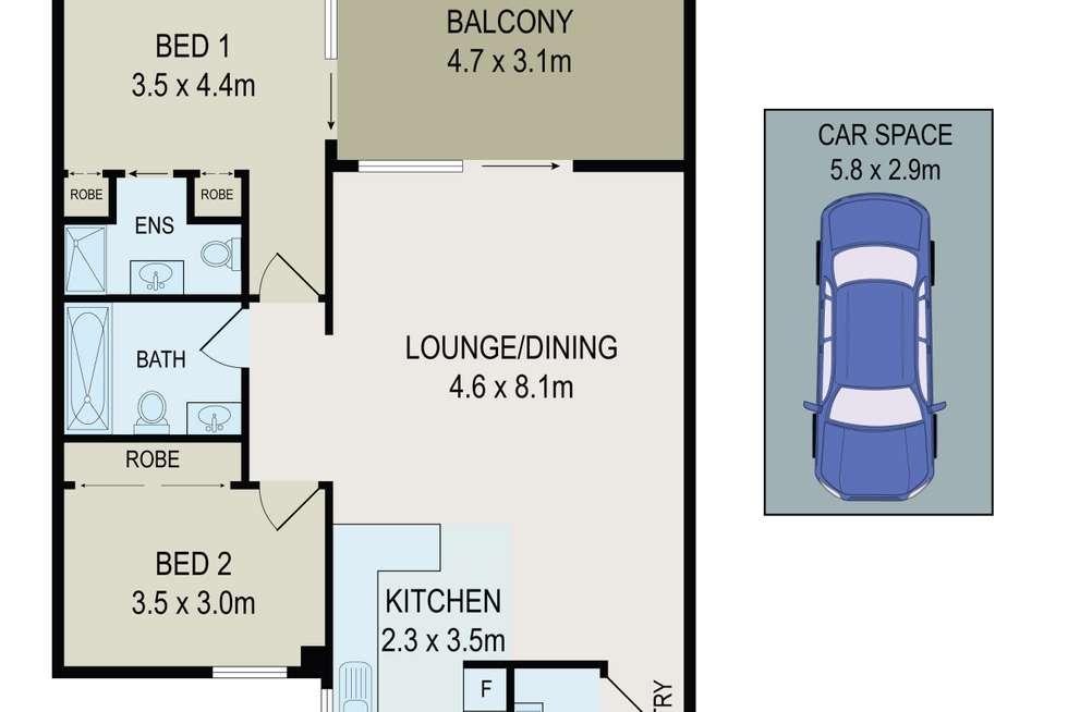 Floorplan of Homely apartment listing, 27/24 Campbell Street, Parramatta NSW 2150