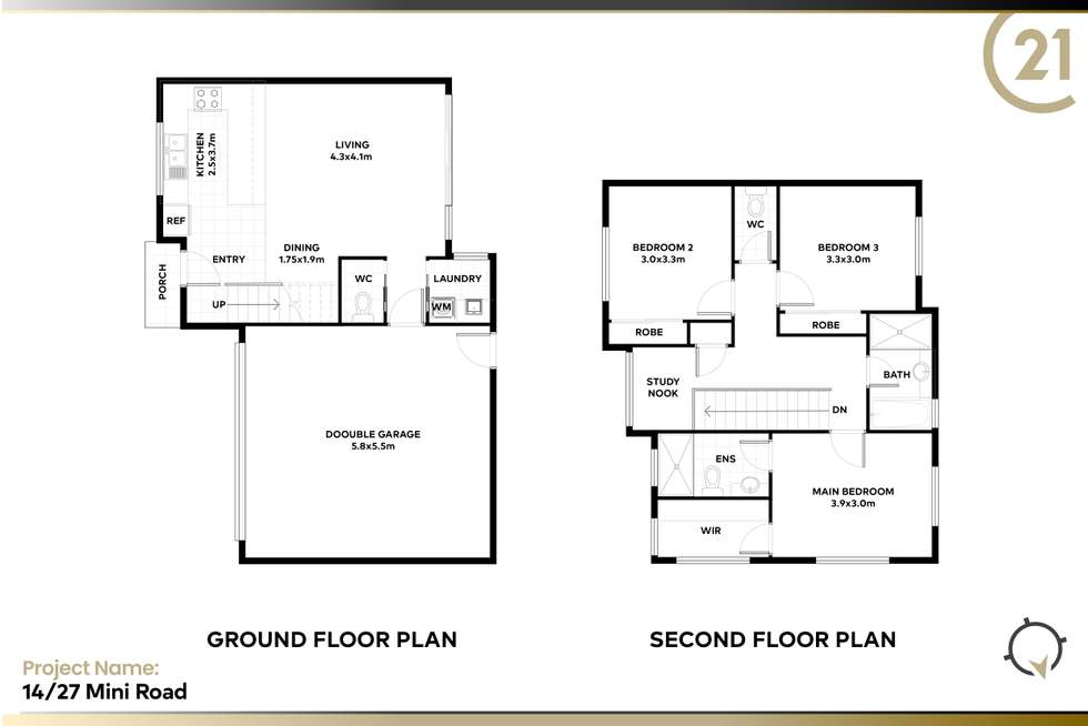 Floorplan of Homely townhouse listing, 14/27 Minmi Road, Wallsend NSW 2287