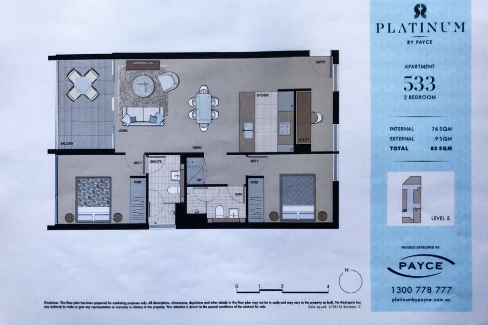 Floorplan of Homely apartment listing, 533/8 Victoria Park Parade, Zetland NSW 2017