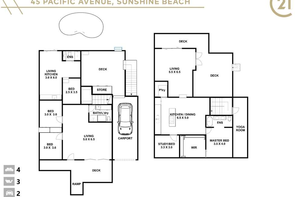 Floorplan of Homely house listing, 45 Pacific Avenue, Sunshine Beach QLD 4567