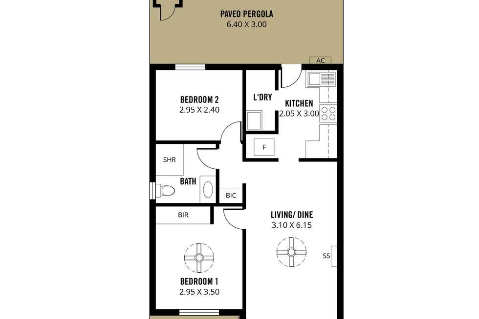 Floorplan of Homely unit listing, 1/19-21 Hillier Road, Morphett Vale SA 5162