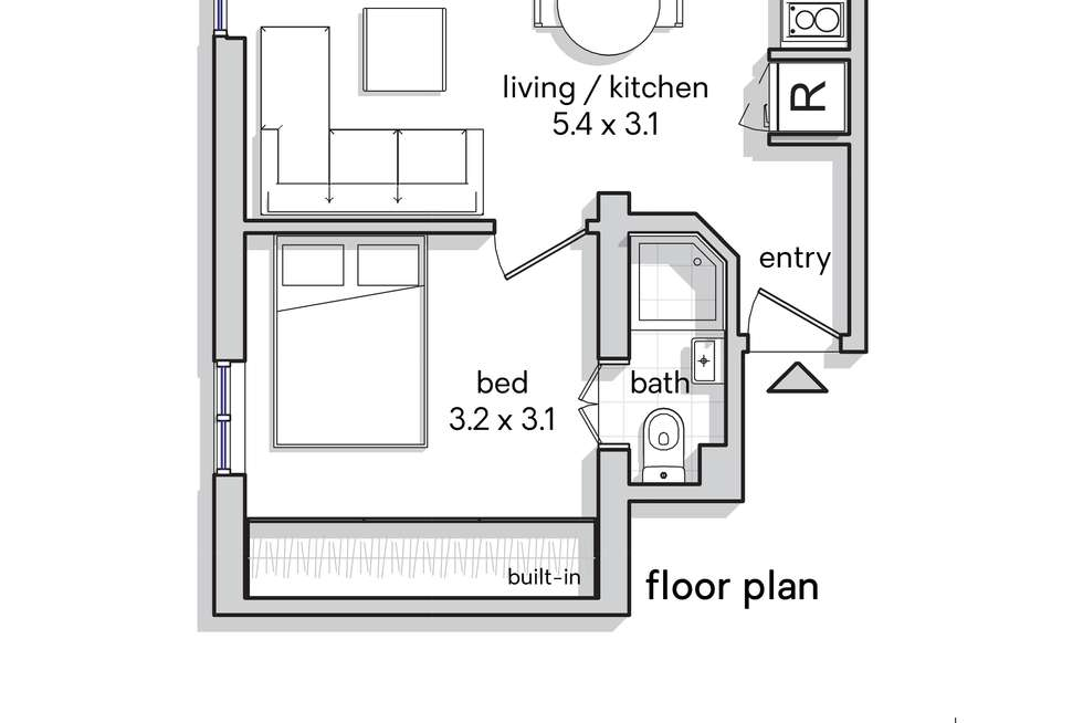 Floorplan of Homely apartment listing, 6/12 Tusculum Street, Potts Point NSW 2011