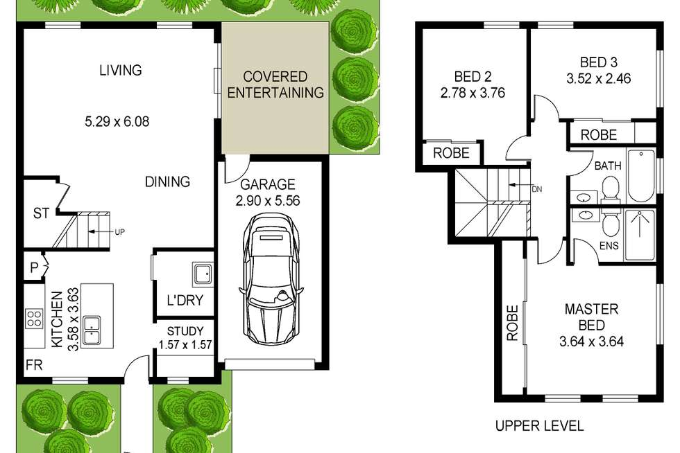 Floorplan of Homely townhouse listing, 13/6A Carrak Road, Kincumber NSW 2251