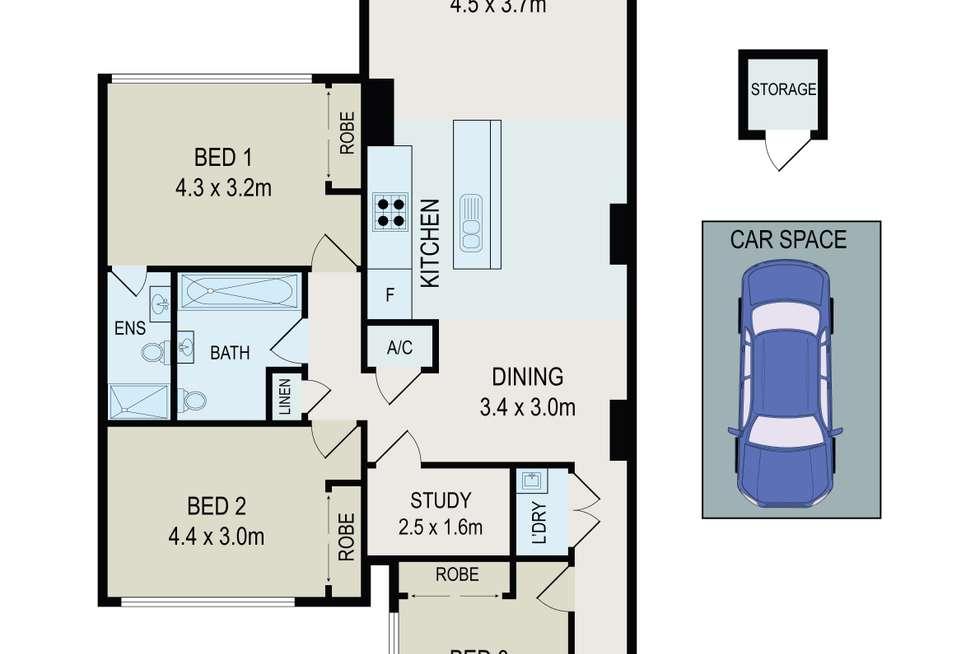 Floorplan of Homely apartment listing, 405/29 Hunter Street, Parramatta NSW 2150