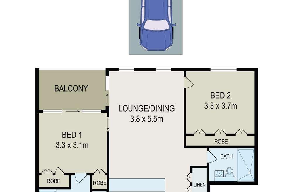 Floorplan of Homely apartment listing, 1107C/3 Broughton Street, Parramatta NSW 2150
