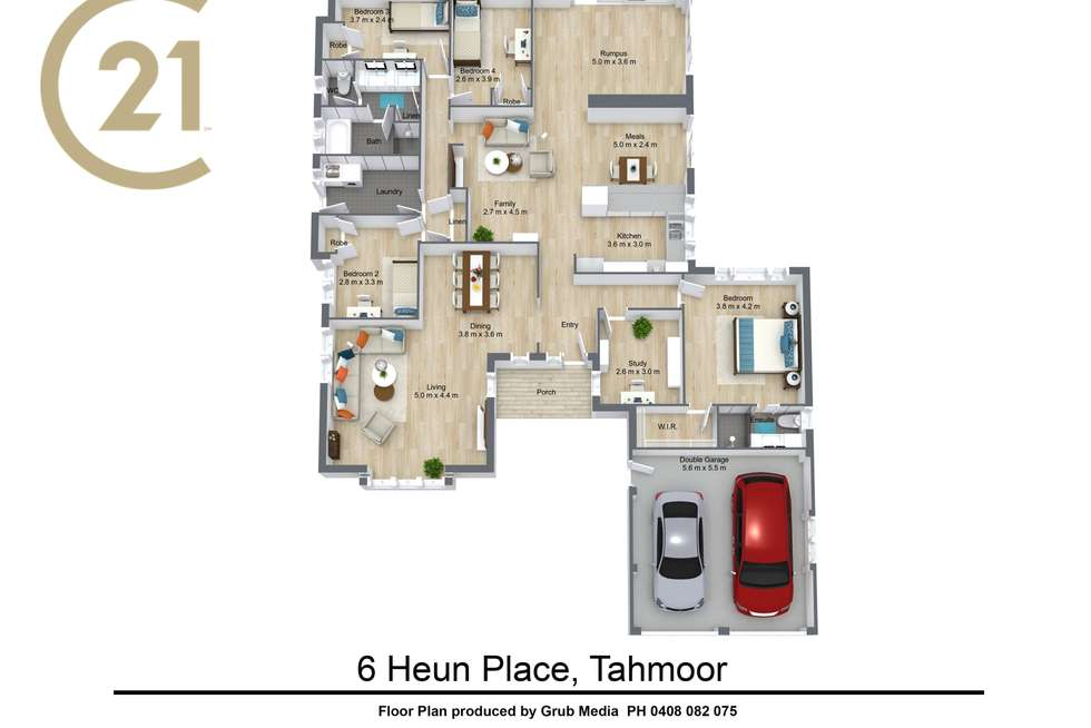 Floorplan of Homely house listing, 6 Huen Place, Tahmoor NSW 2573