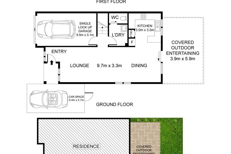 Floorplan of Homely townhouse listing, 14/46-52 Wattle Road, Casula NSW 2170