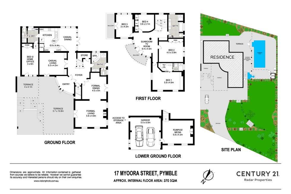 Floorplan of Homely house listing, 17 Myoora Street, Pymble NSW 2073