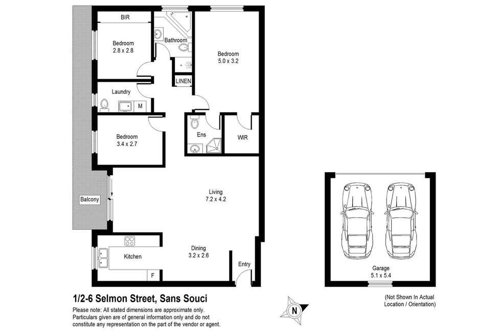 Floorplan of Homely apartment listing, 1/2-6 Selmon Street, Sans Souci NSW 2219