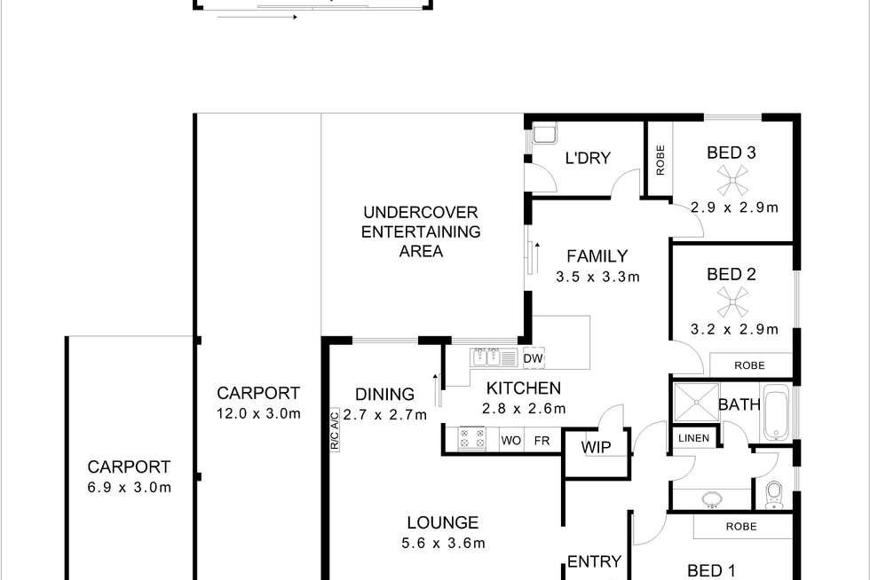 Floorplan of Homely house listing, 6 Timothy Road, Morphett Vale SA 5162