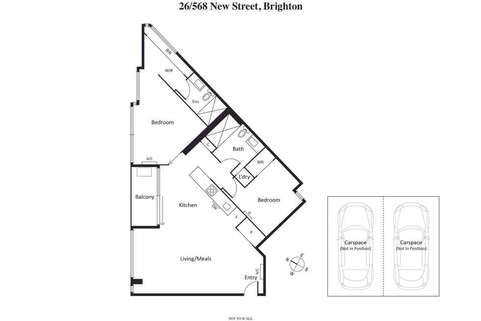 Floorplan of Homely apartment listing, 26/568 New Street, Brighton VIC 3186