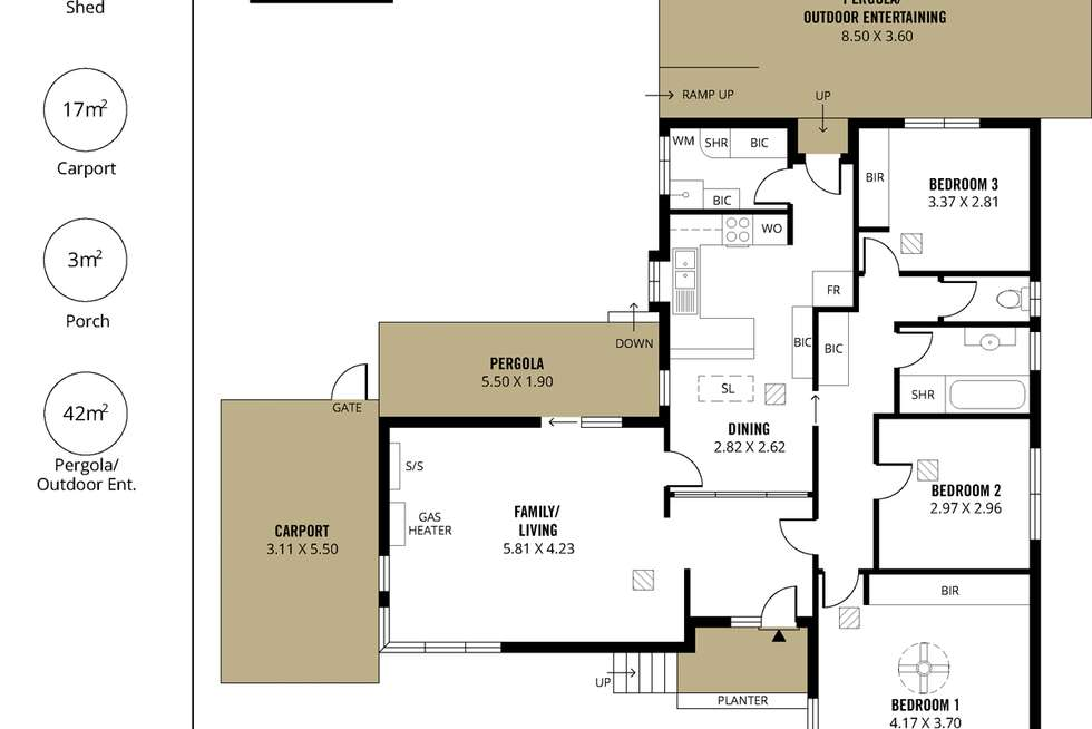 Floorplan of Homely house listing, 4 Kanangra Road, Seaview Downs SA 5049