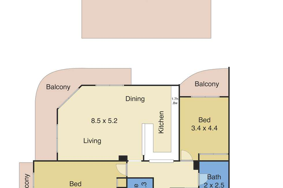Floorplan of Homely unit listing, 48/1-5 Bayview Avenue, The Entrance NSW 2261