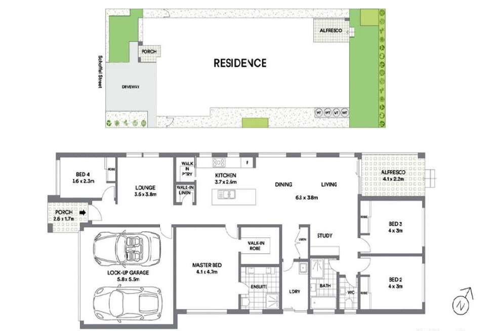 Floorplan of Homely house listing, 44 Schoffel street, Riverstone NSW 2765