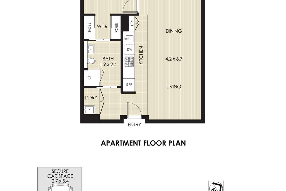 Floorplan of Homely apartment listing, 606D/5 Pope Street, Ryde NSW 2112