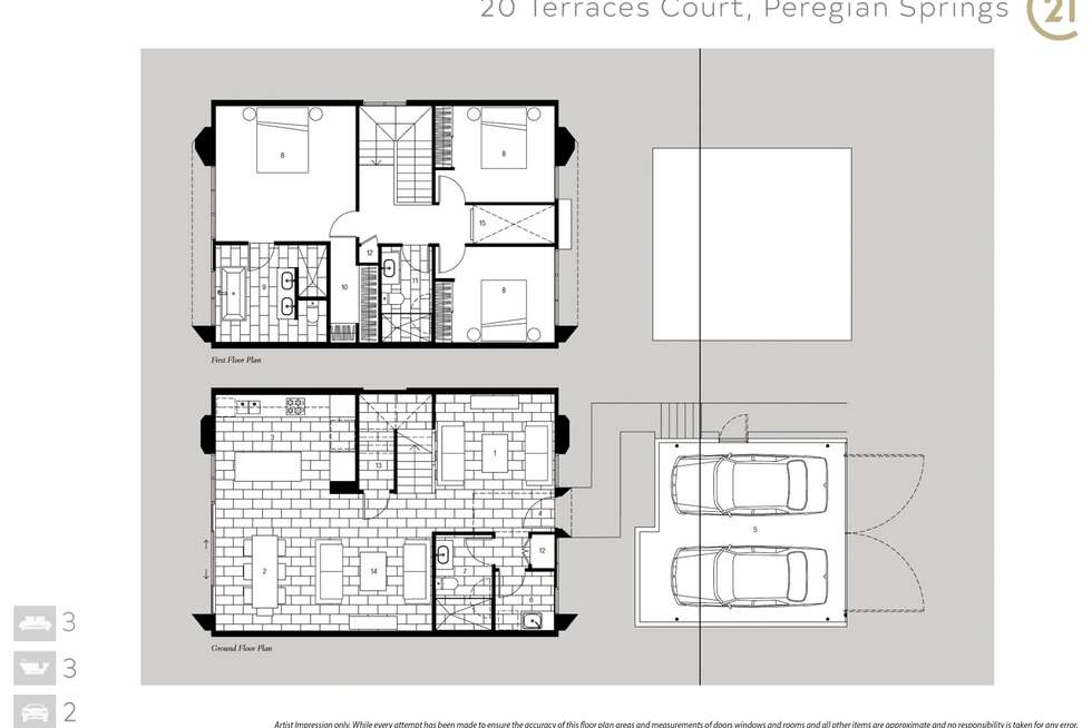 Floorplan of Homely house listing, 20 Terraces Court, Peregian Springs QLD 4573