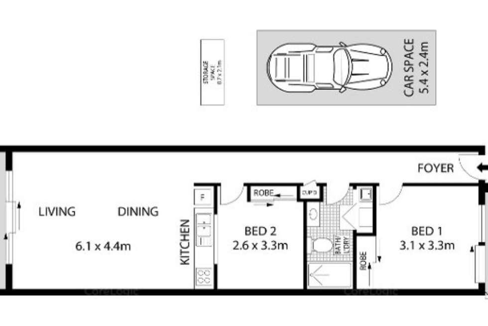 Floorplan of Homely apartment listing, 208/438-448 Anzac Parade, Kingsford NSW 2032