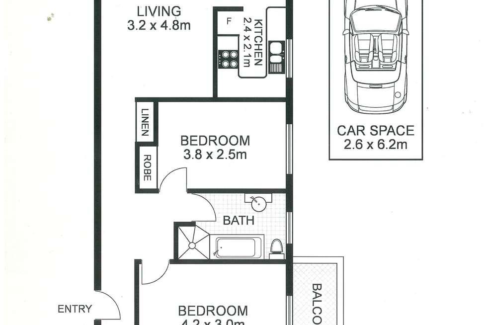 Floorplan of Homely apartment listing, 10/66a Murdoch Street, Cremorne NSW 2090