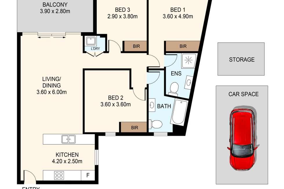 Floorplan of Homely apartment listing, 302/6 Charles Street, Parramatta NSW 2150