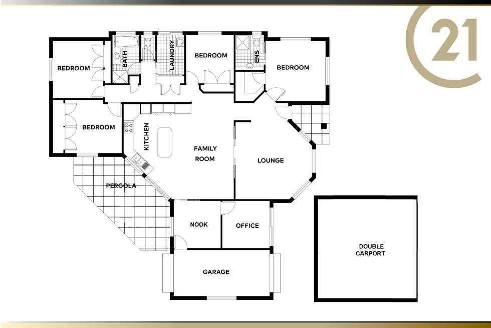 Floorplan of Homely house listing, 16 Gerrard Street, Middle Ridge QLD 4350