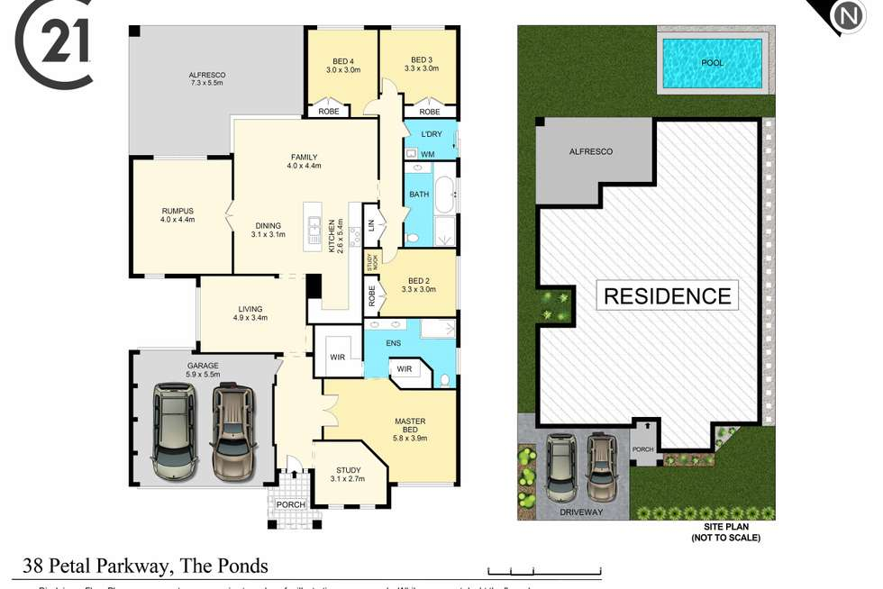 Floorplan of Homely house listing, 38 Petal Parkway, The Ponds NSW 2769