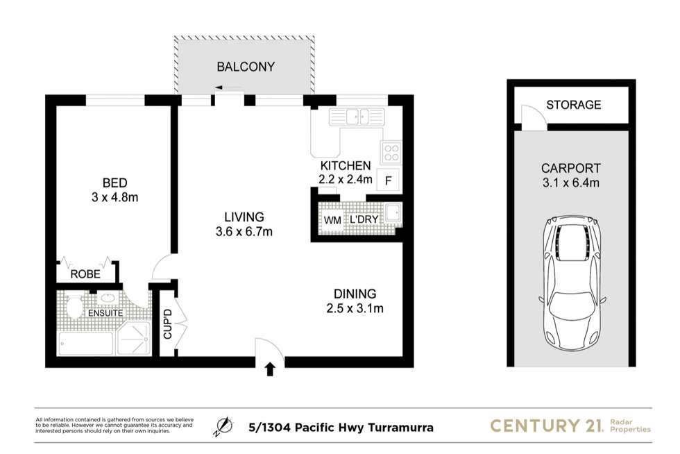 Floorplan of Homely apartment listing, 5/1304-1308 Pacific Hwy, Turramurra NSW 2074