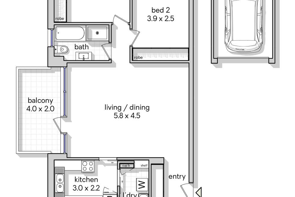 Floorplan of Homely apartment listing, 5/11 Bellevue Parade, Hurstville NSW 2220