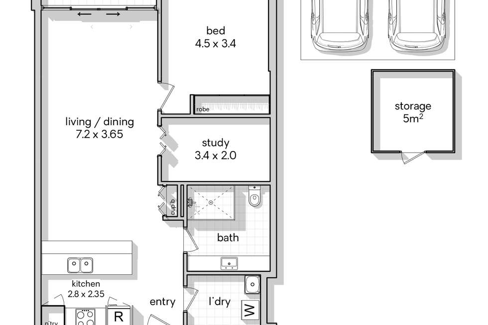 Floorplan of Homely apartment listing, 313/524 Rocky Point Road, Sans Souci NSW 2219
