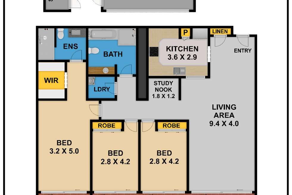 Floorplan of Homely apartment listing, 705/12 Pennant street, Castle Hill NSW 2154
