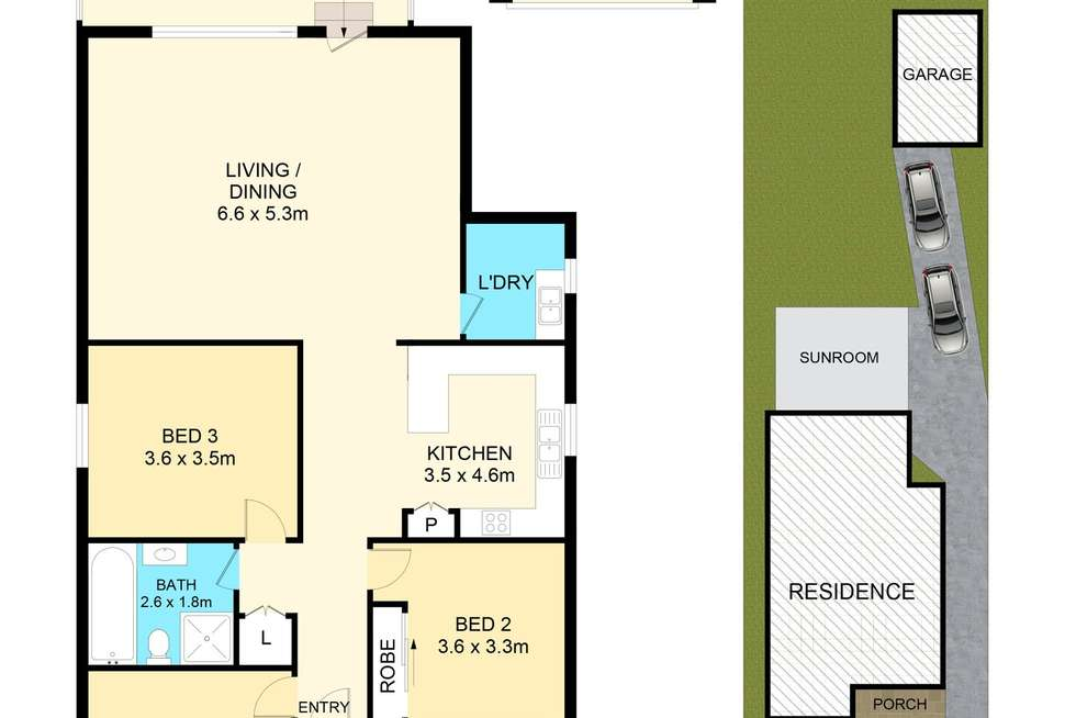 Floorplan of Homely house listing, 74A Market St, Condell Park NSW 2200