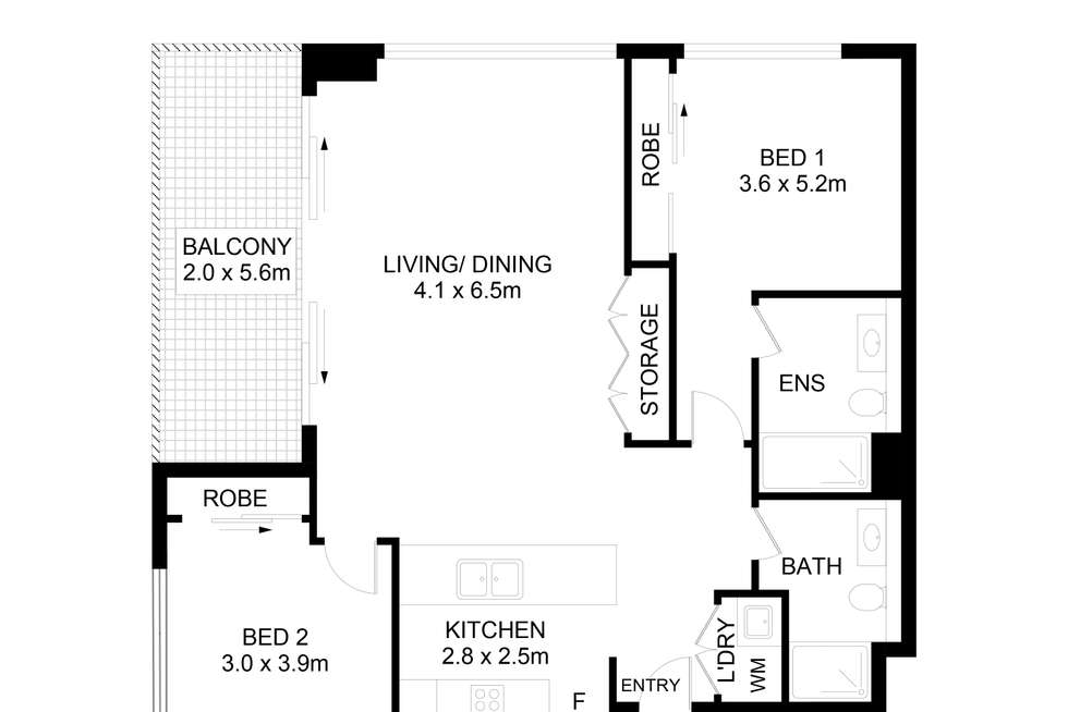 Floorplan of Homely apartment listing, 602F/41-45 Belmore Street, Ryde NSW 2112