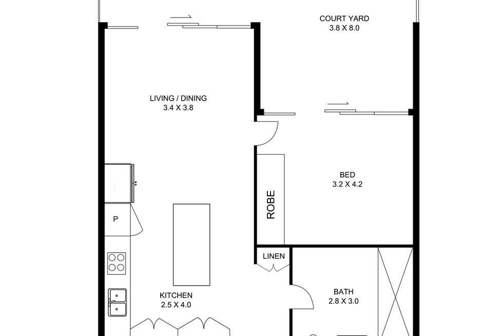 Floorplan of Homely apartment listing, F202/34 Rothschild Avenue, Rosebery NSW 2018