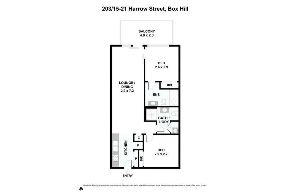 Floorplan of Homely apartment listing, 203/15-21 Harrow Street, Box Hill VIC 3128
