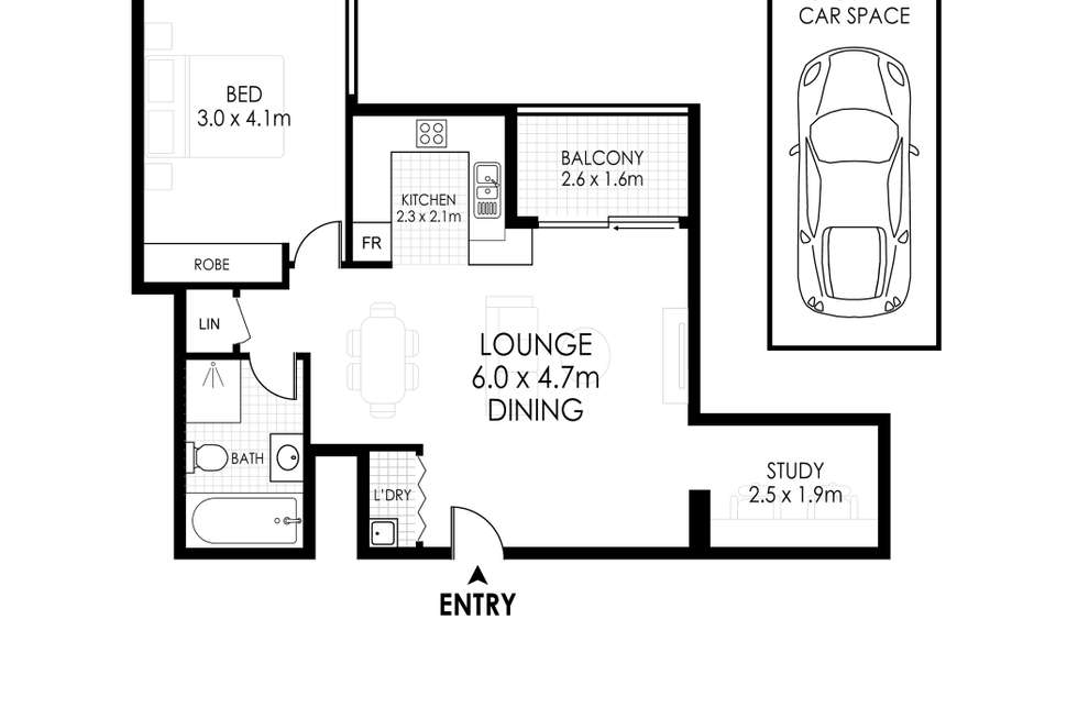 Floorplan of Homely apartment listing, 108/97 Bonar Street, Wolli Creek NSW 2205