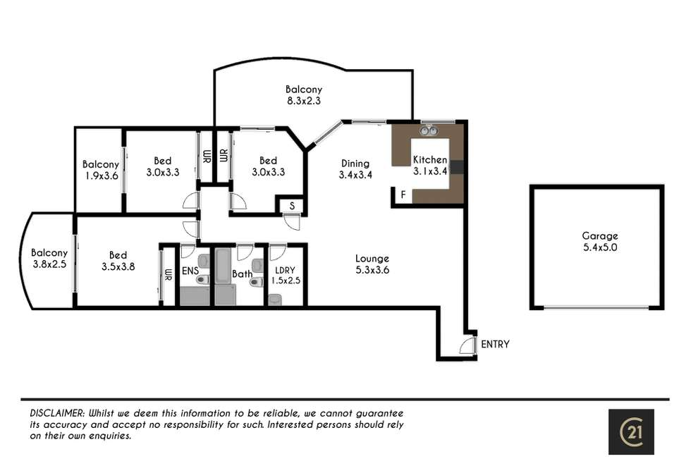 Floorplan of Homely apartment listing, 12/81-87 Cecil Avenue, Castle Hill NSW 2154