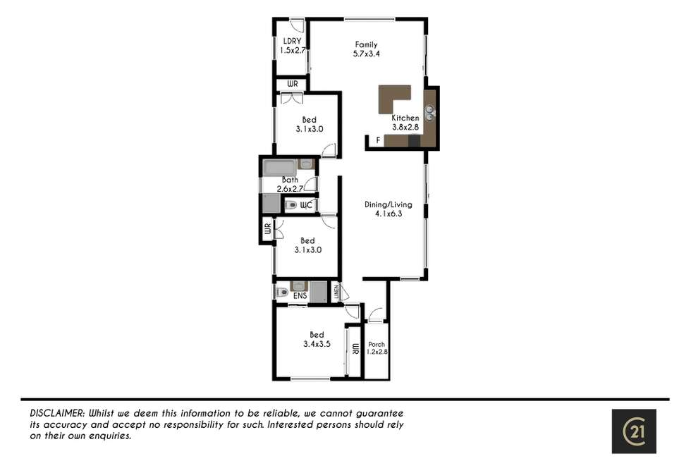 Floorplan of Homely house listing, 21 Gill Place, Schofields NSW 2762