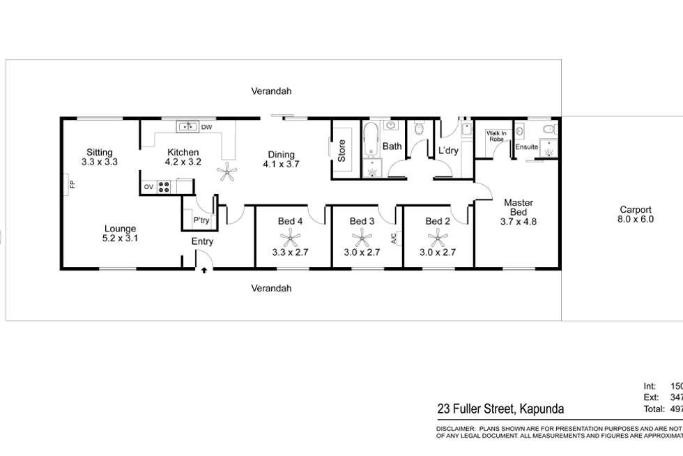 Floorplan of Homely house listing, 23 Fuller Street, Kapunda SA 5373