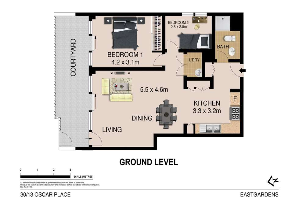 Floorplan of Homely apartment listing, 30/13 Oscar Place, Eastgardens NSW 2036