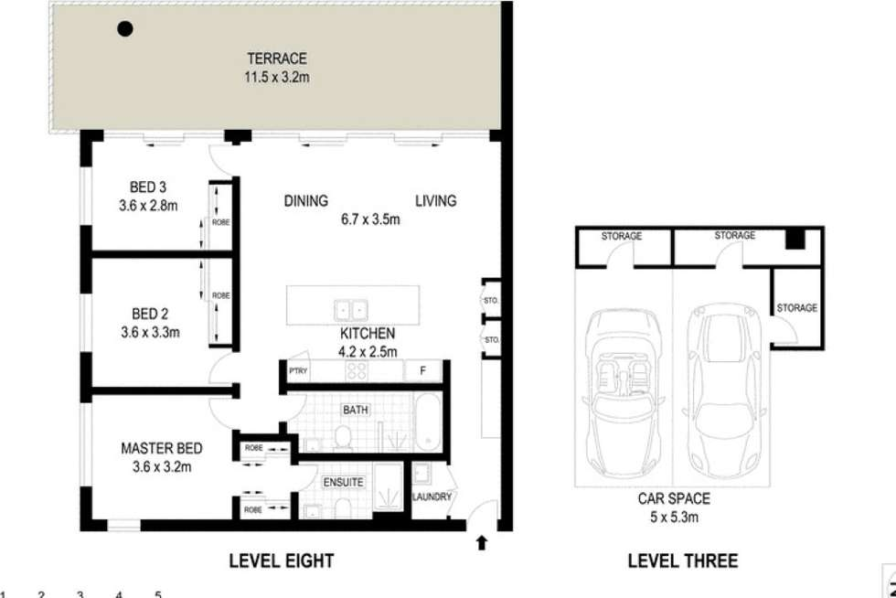 Floorplan of Homely apartment listing, 701D/5 Pope Street, Ryde NSW 2112