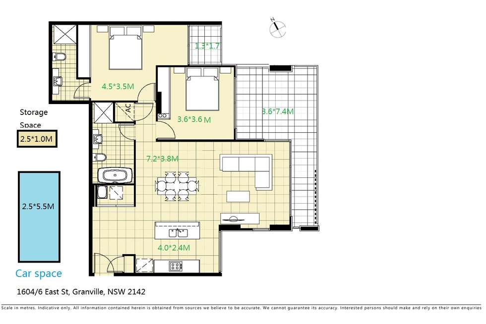 Floorplan of Homely apartment listing, 1604/6 East Street, Granville NSW 2142