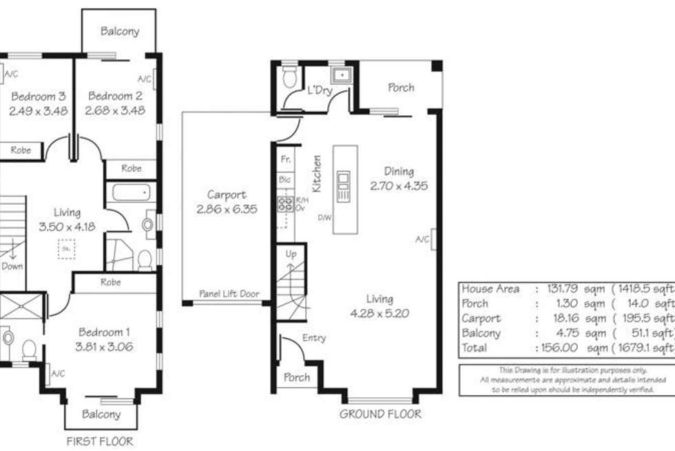 Floorplan of Homely townhouse listing, 3/19-27 Saint Kitts Place, Mawson Lakes SA 5095
