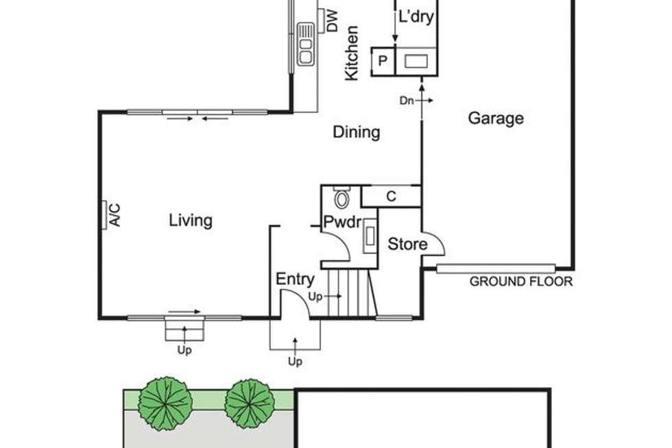 Floorplan of Homely townhouse listing, 27B Pyne Street, Caulfield VIC 3162